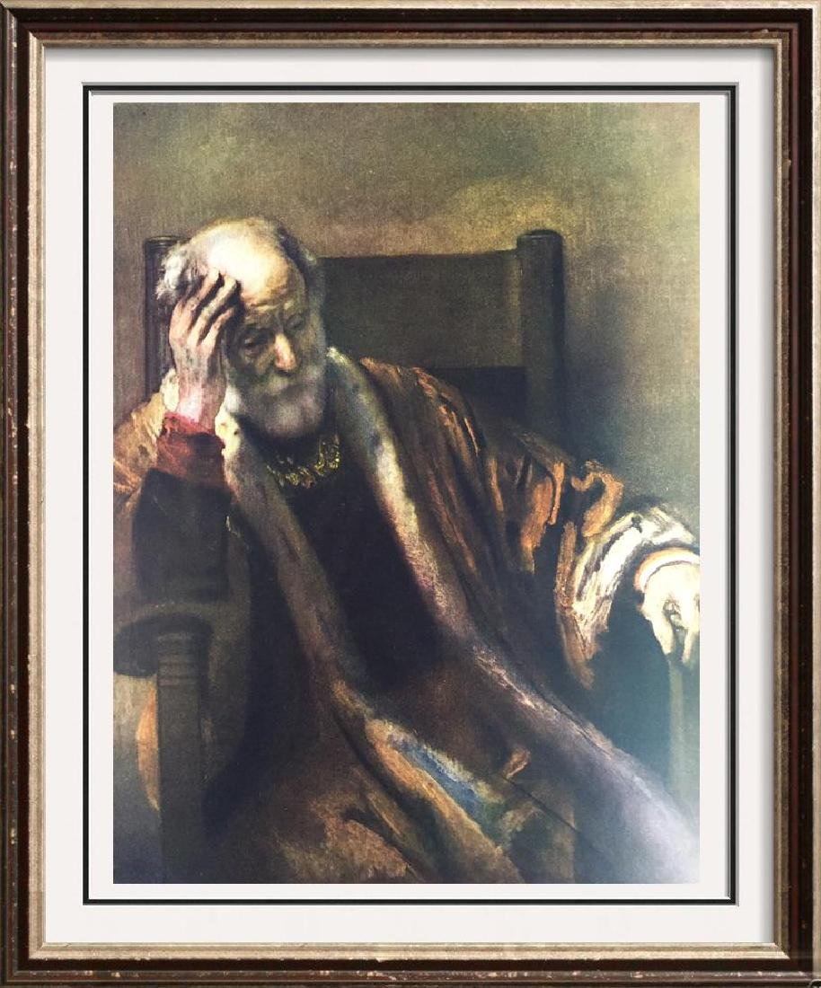 Rembrandt An Old Man in Thought c.1652 Fine Art Print