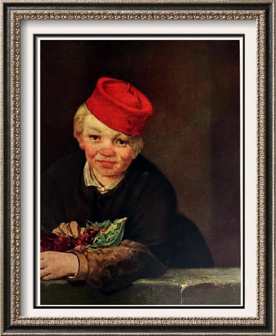 Edouard Manet Boy with Cherries c.1858 Fine Art Print