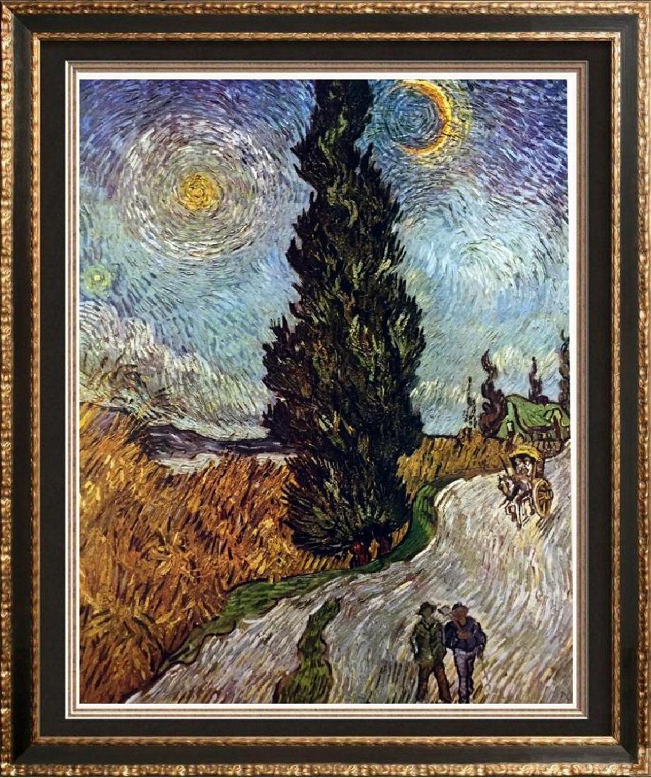 Vincent Van Gogh Road with Cypress c.1890 Fine Art