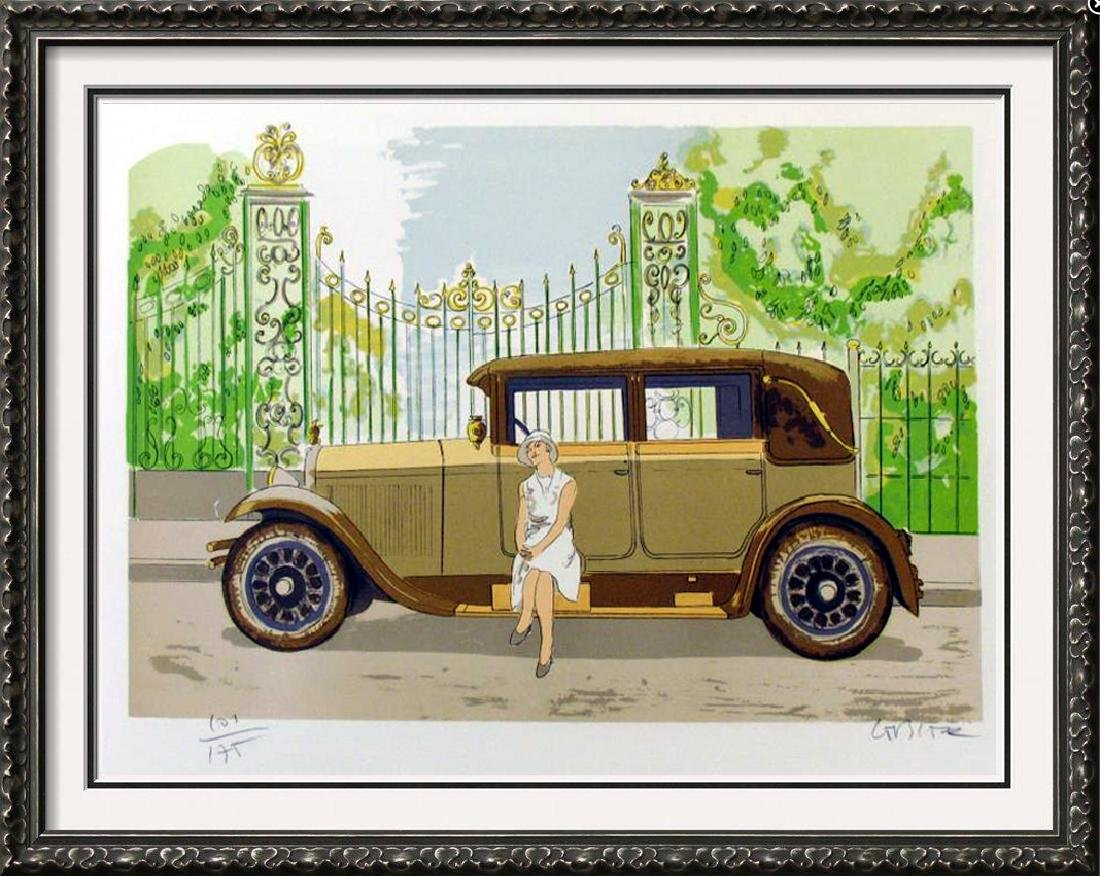 DELAHAYE AUTO CAR ART COLORFUL ONLY $25