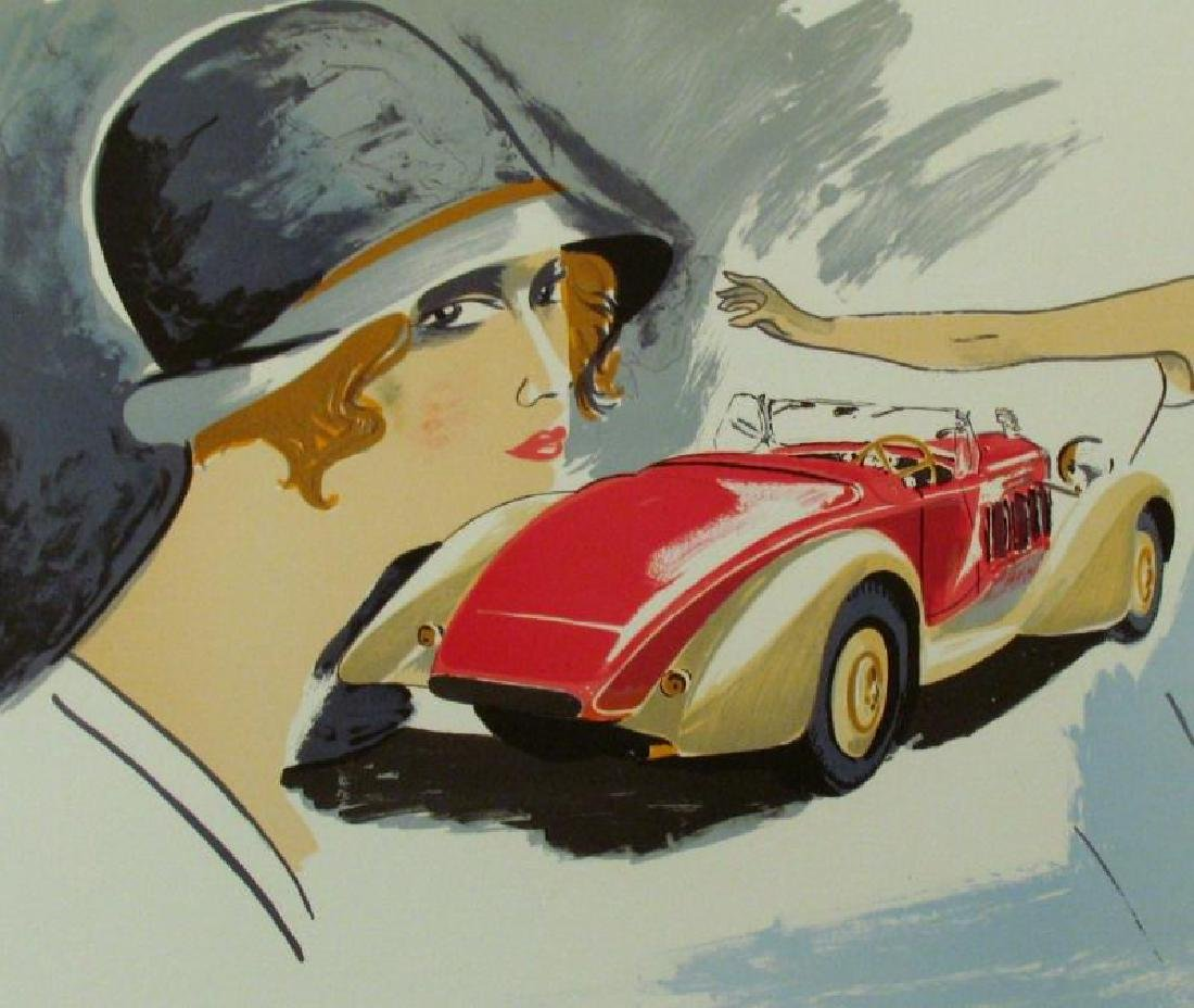DELAGE LITHOGRAPH COLORFUL HAND SIGNED SALE - 2