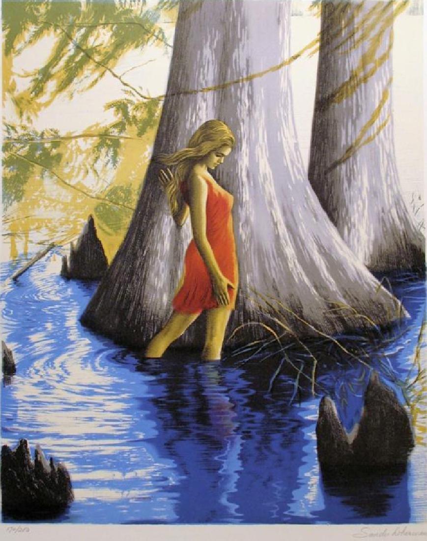 Young Girl Scenic Landscape Impressionism Ltd Ed