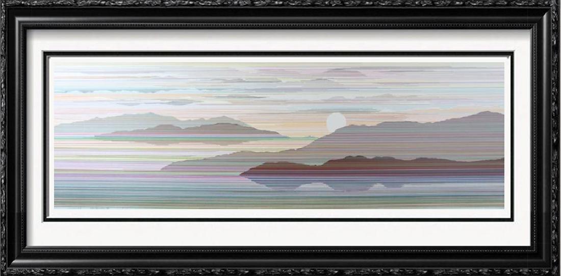 Reflection Linear Modern Abstract Art Dealer