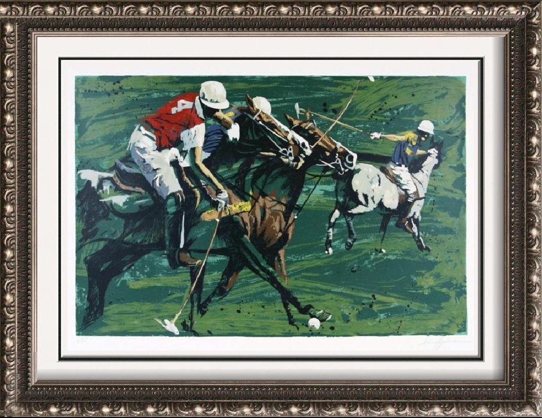 Polo Match Large Signed Neiman-Style Ltd Ed Great Color