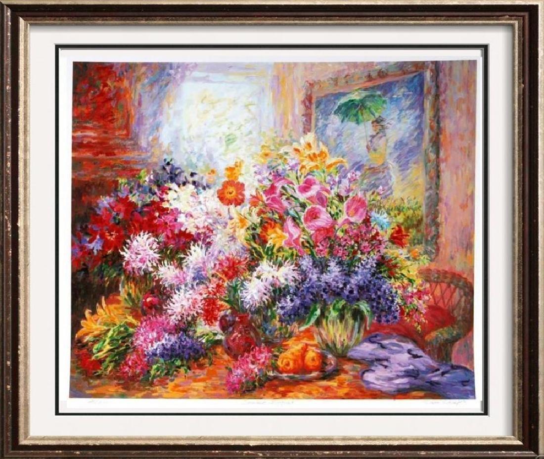 Signed Limited Ed Large Floral Impressionism Art