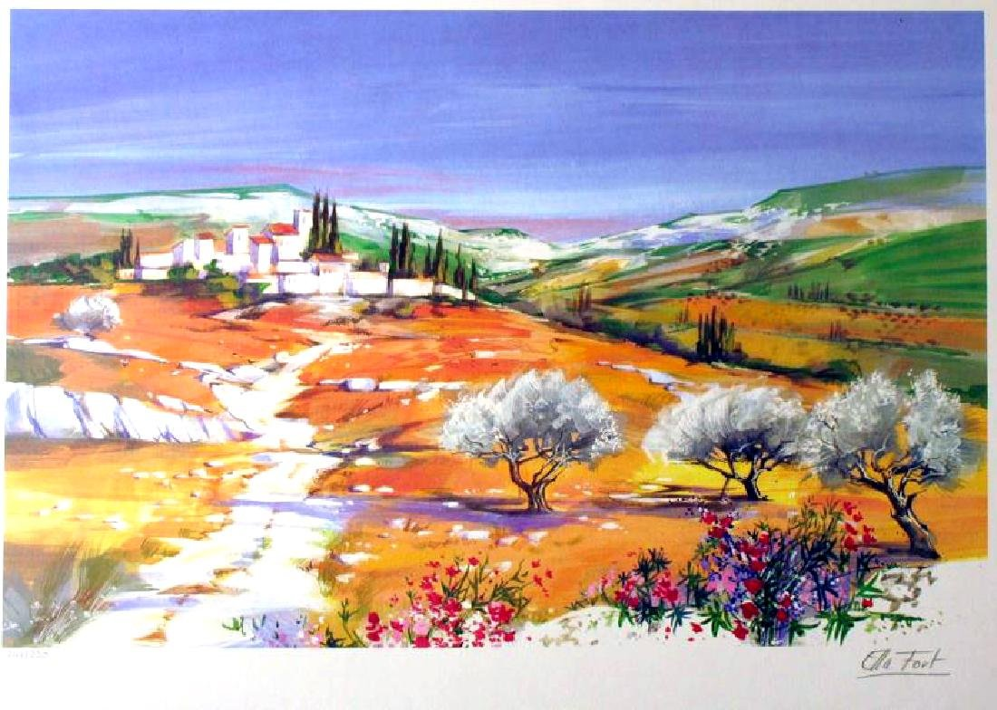 COLORFUL LANDSCAPE LIQUIDATING ALL LTD ED ART