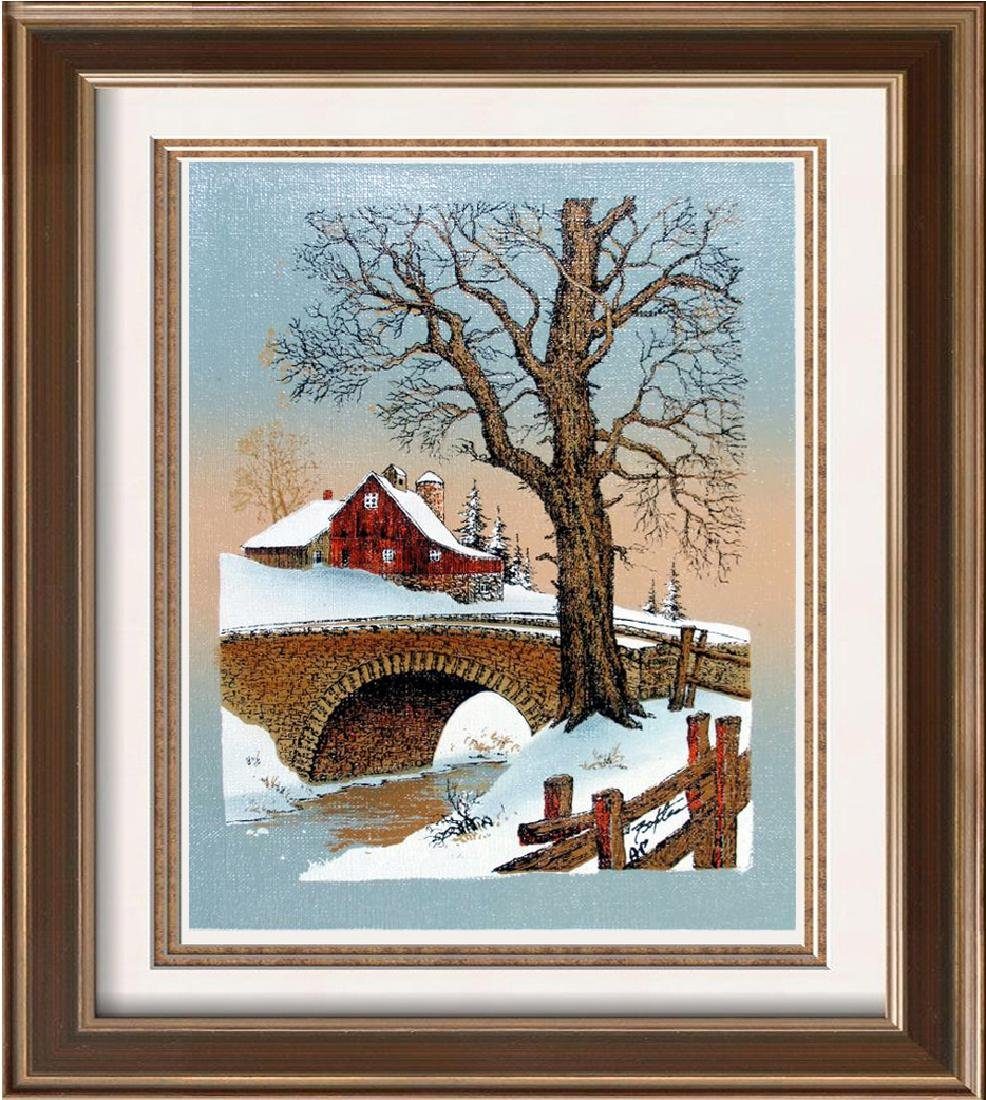 Snow Scene A/P Ltd Ed Canvas Only $20 Dealer Sale