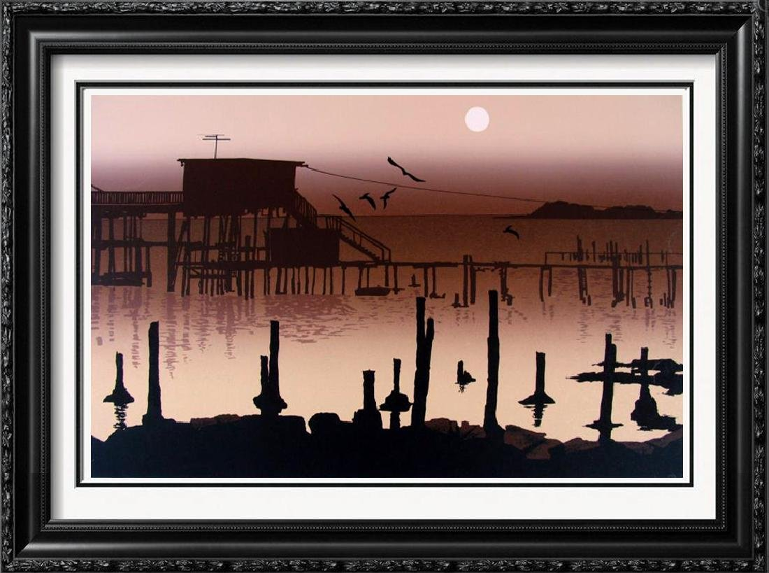 Silhouette Pier Modern Signed Limited Edition Fantastic