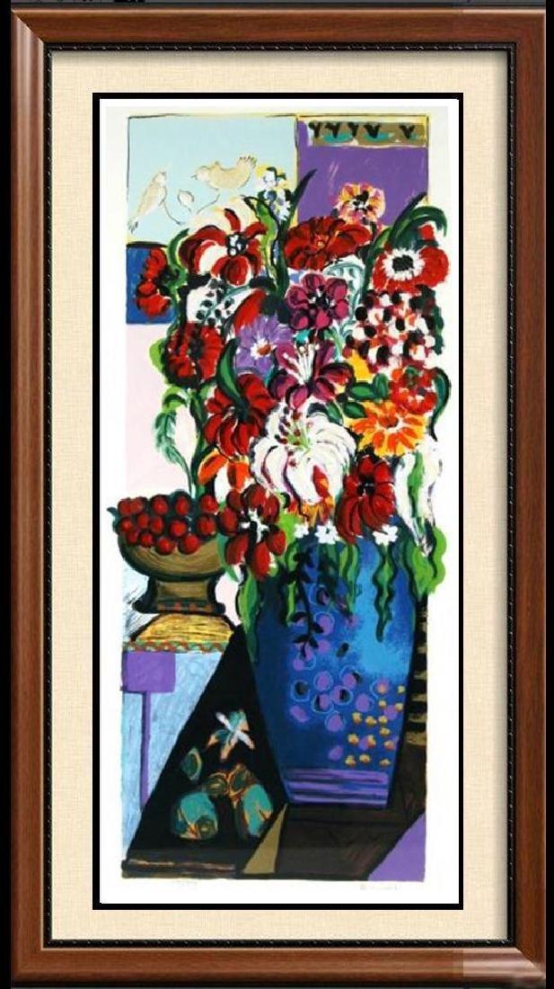 Israeli Art Bracha Guy Tarkay Style Floral Ltd Ed