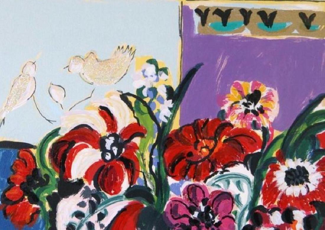 Israeli Art Bracha Guy Tarkay Style Floral Ltd Ed - 3