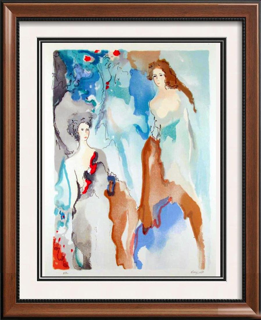 Ladies In Blue Art Deco Limited Edition Signed