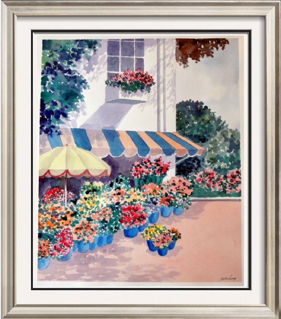 Colorful Watercolor Peter Wong signed Painting