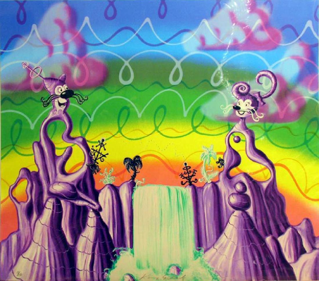 Kenny Scharf Rare Aqua Pollination Pop Signed Ltd Ed - 2