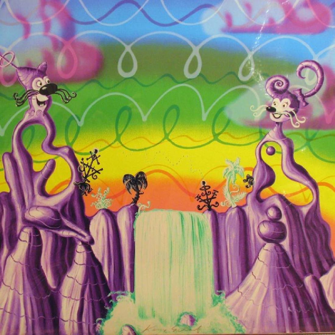 Kenny Scharf Rare Aqua Pollination Pop Signed Ltd Ed - 3