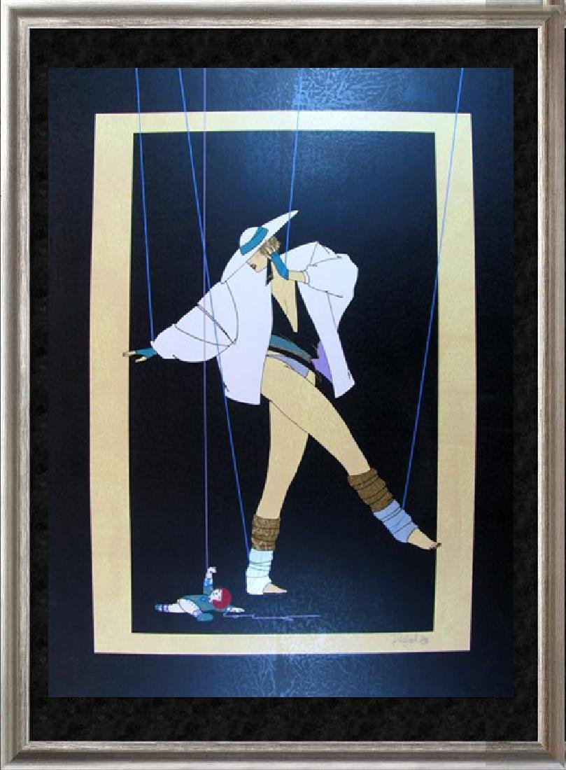 Art Deco Puppet Signed Limited Edition Dramatic