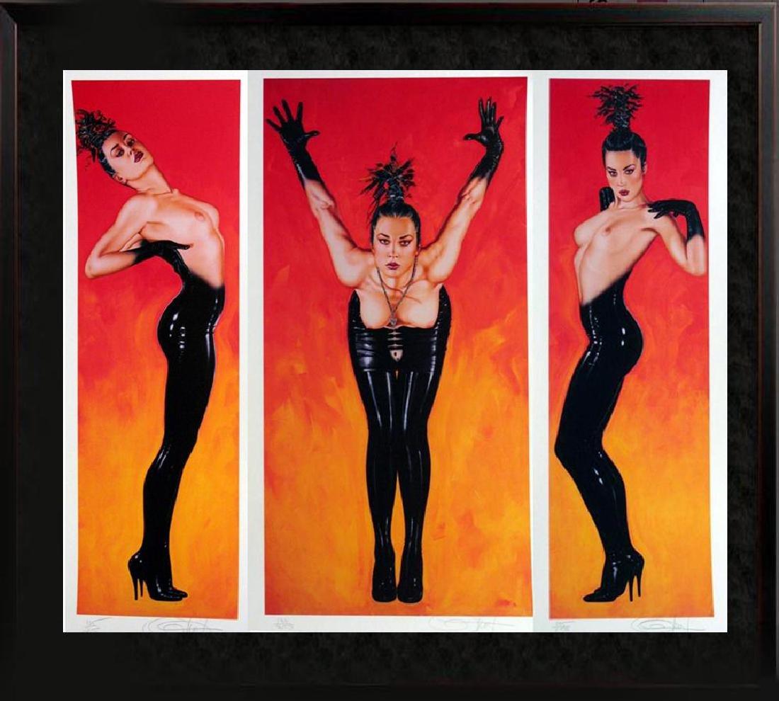 Olivia 3 Panel Rare Ltd Ed Signed Nude Art Sale