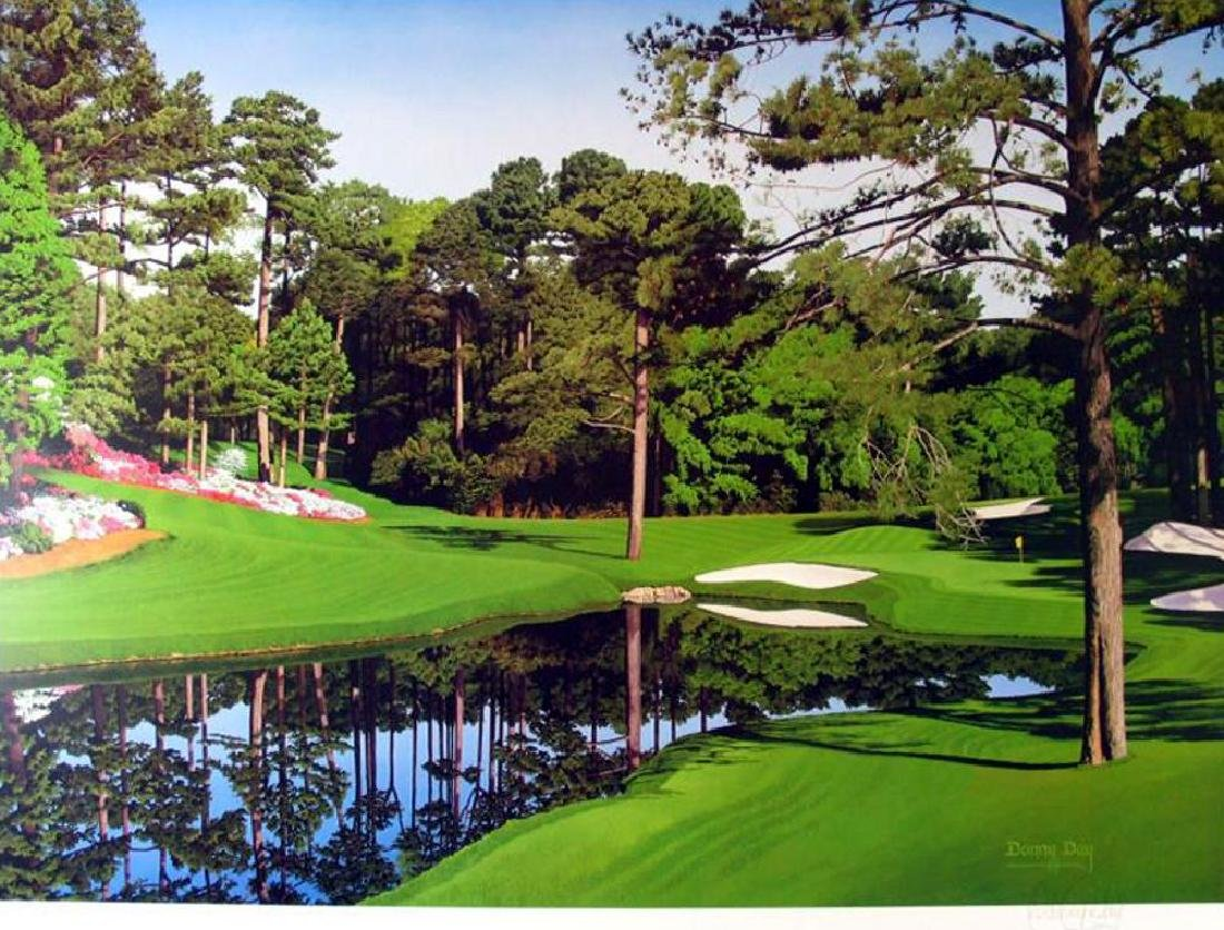 Signed Danny Day Golf Course Print Limited Edition