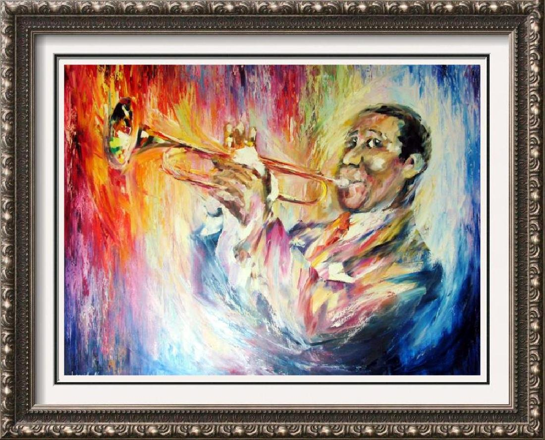Louis Armstrong 30X40 Original Painting Canvas Sale