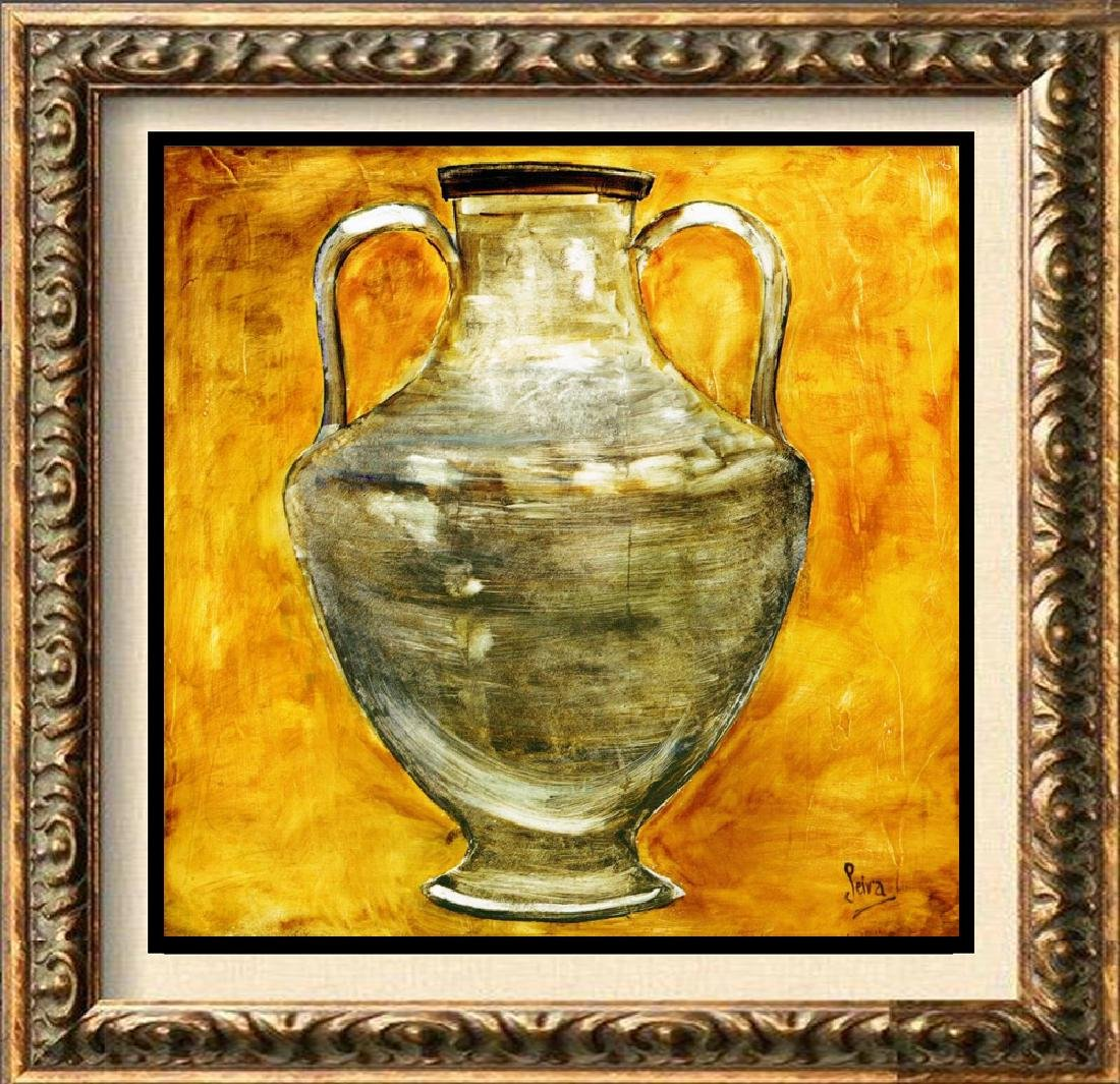 Neum Collection Vase IV Plate Signed Giclee on Canvas