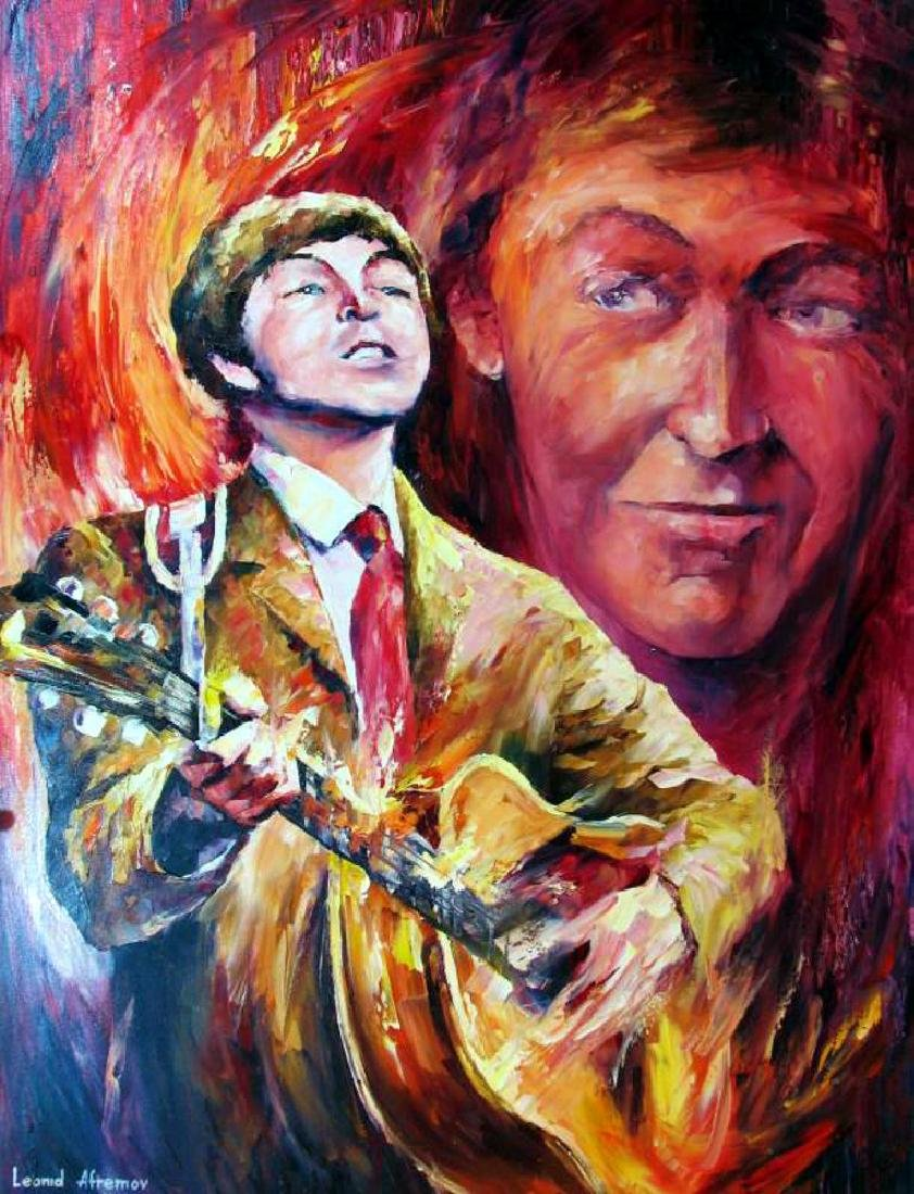 Paul Mccartney Abstract Palette Knife Original Canvas
