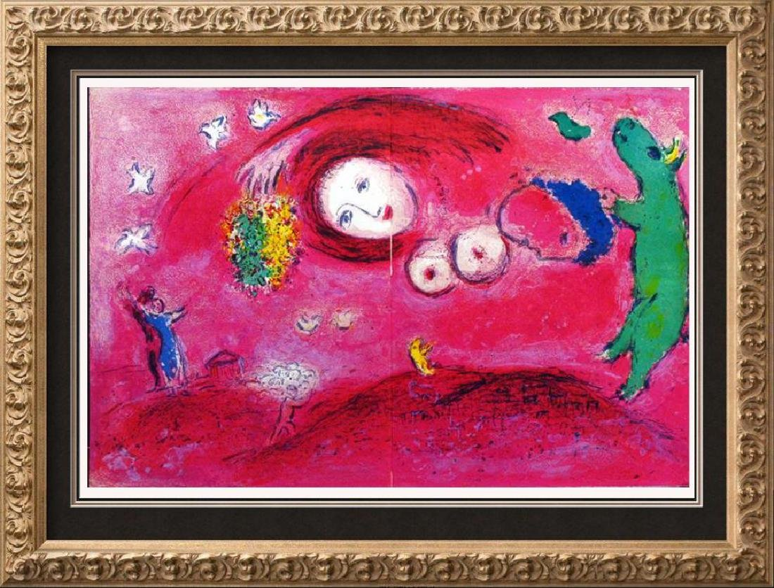 MARC CHAGALL FANTASTIC COLORED LITHOGRAPH SALE