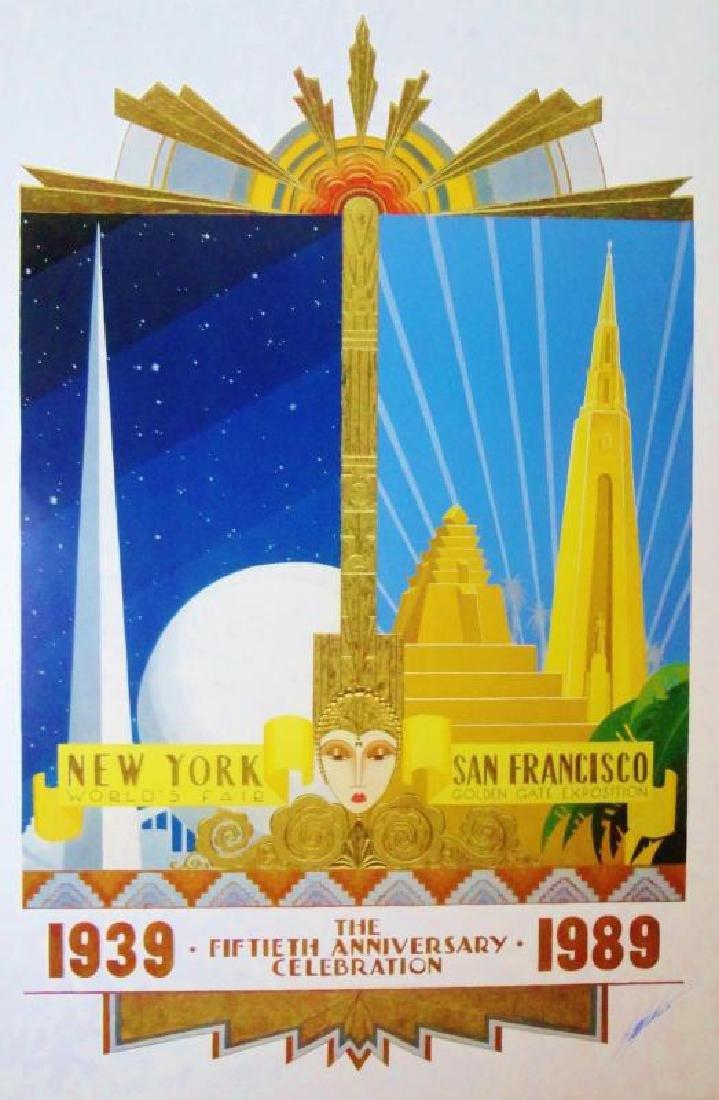 Art Deco 1939-1989 50th NY SF Anniversary Hand Signed