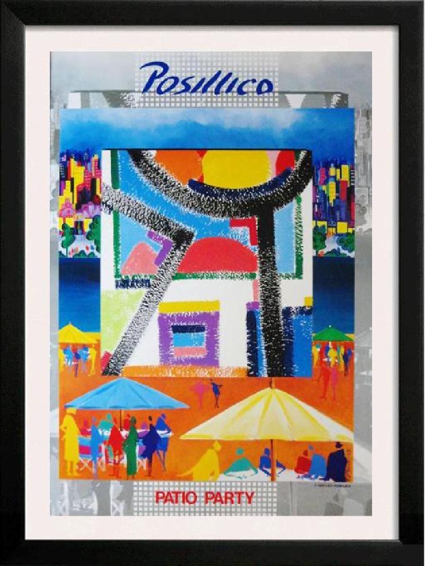 Posillico Pop Art Deco Colored Litho SALE DEALER