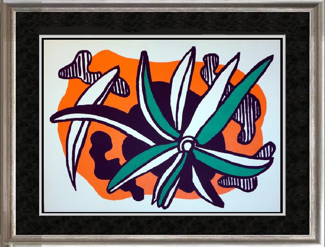 Fernand Leger Rare Colored Litho from Special Issue of