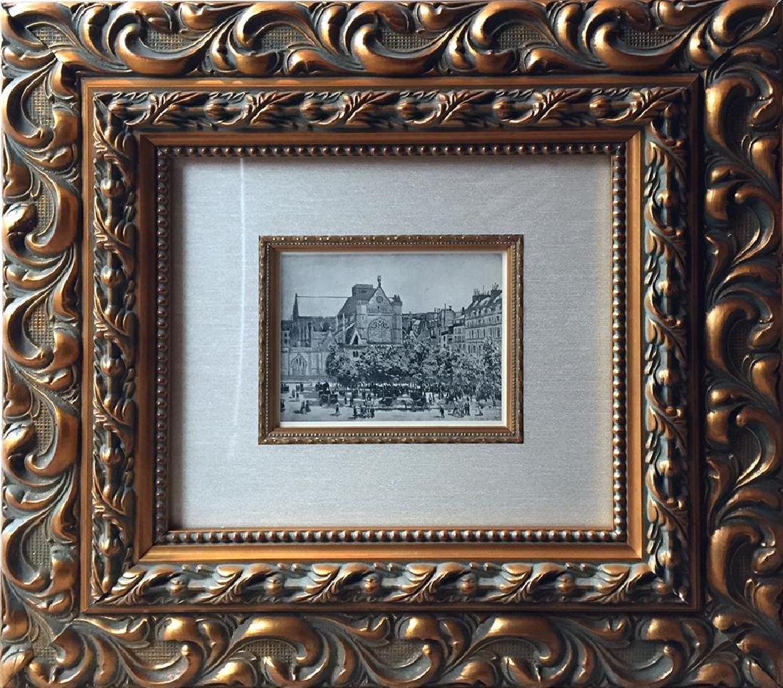 Claude Monet c.1922 Original Engraving RARE Collectible