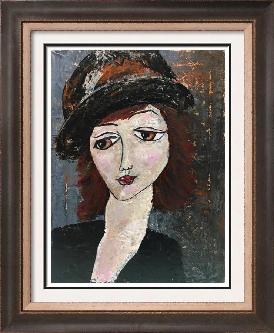 Sophie Original Modigliani style Painting on Canvas
