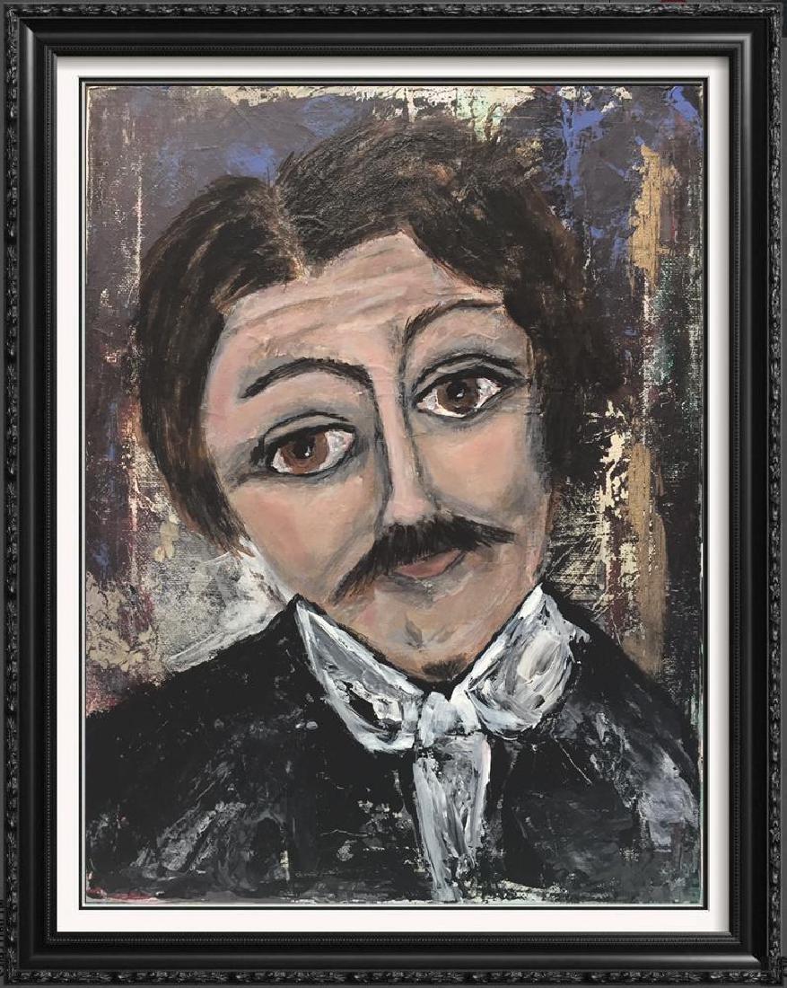 Nikola Tesla Original Painting on Canvas