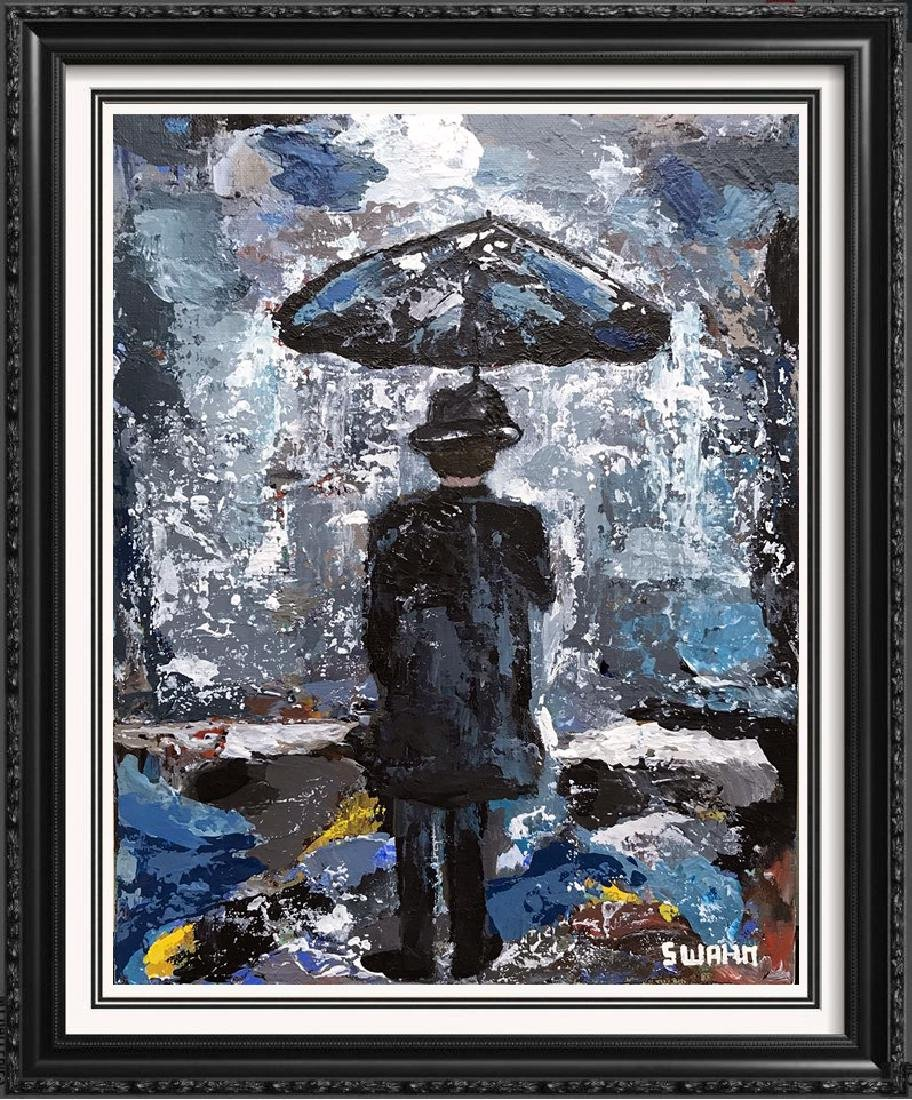 Rain Man Series Janet Swahn Original on Panel Signed