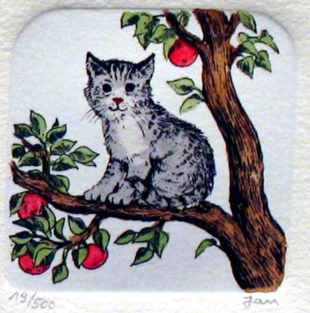 Original Colored Etching Cat Series Buy 3 Get Free - 4