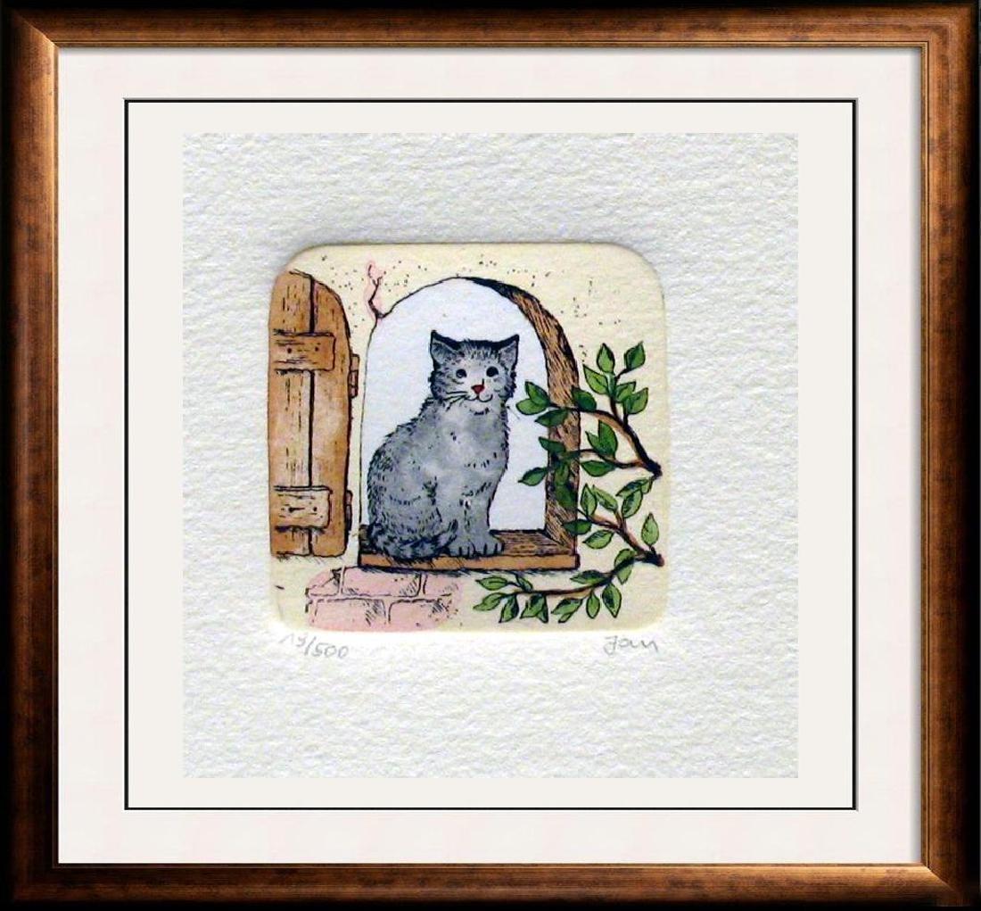 Original Colored Etching Cat Series Buy 3 Get Free