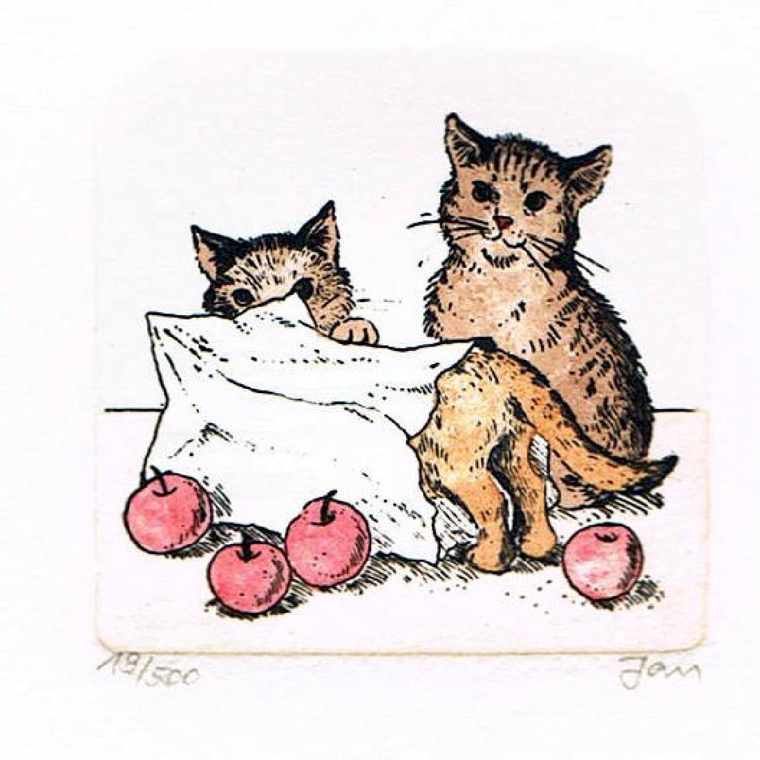Original Colored Etching Cat Series Buy 3 Get Free - 2