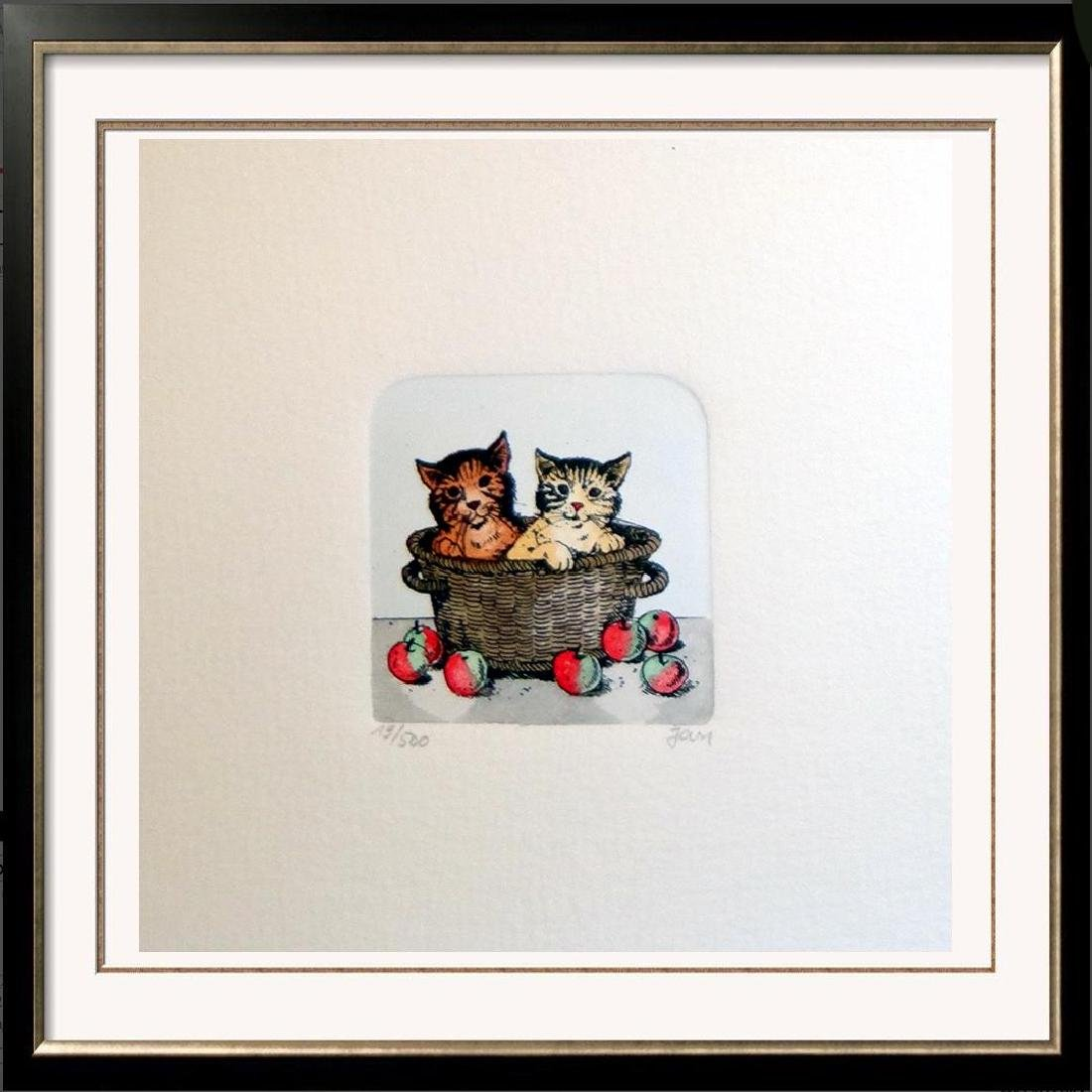 Original Colored Etching Cat Series Buy 3 Get Free