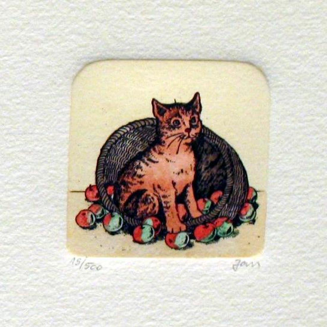 Original Colored Etching Cat Series Buy 3 Get Free - 3
