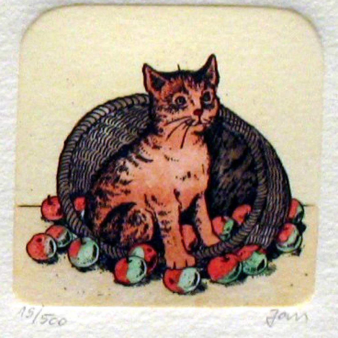 Original Colored Etching Cat Series Buy 3 Get Free - 4