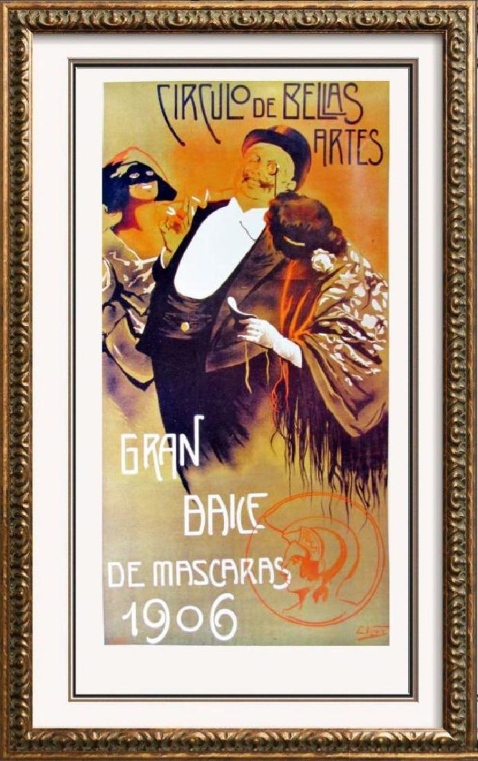 Plate Signed C. Vergez Circulo De Belias Artes