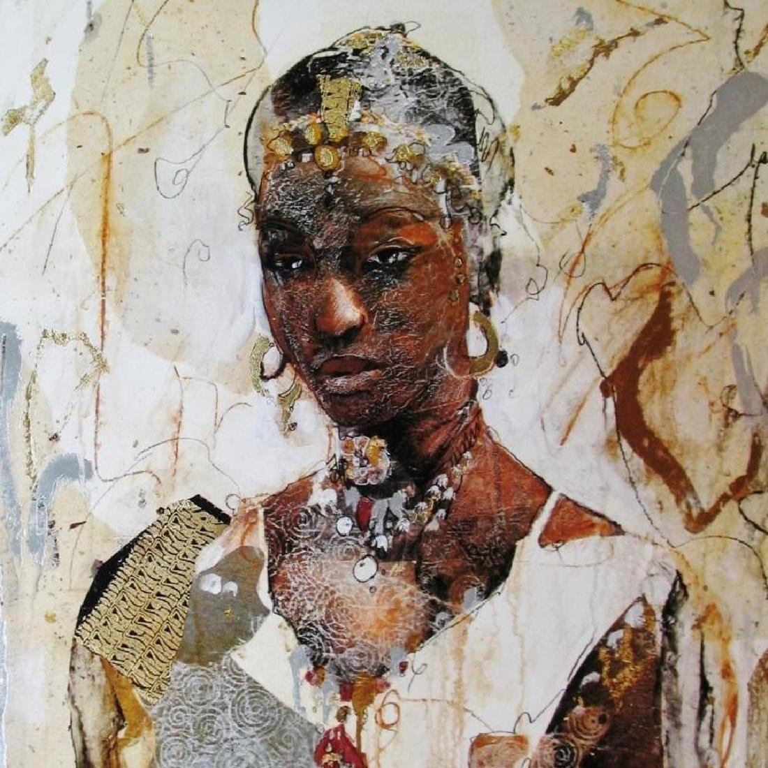African Headdress Figures & Portraits 1996 Printed In - 2