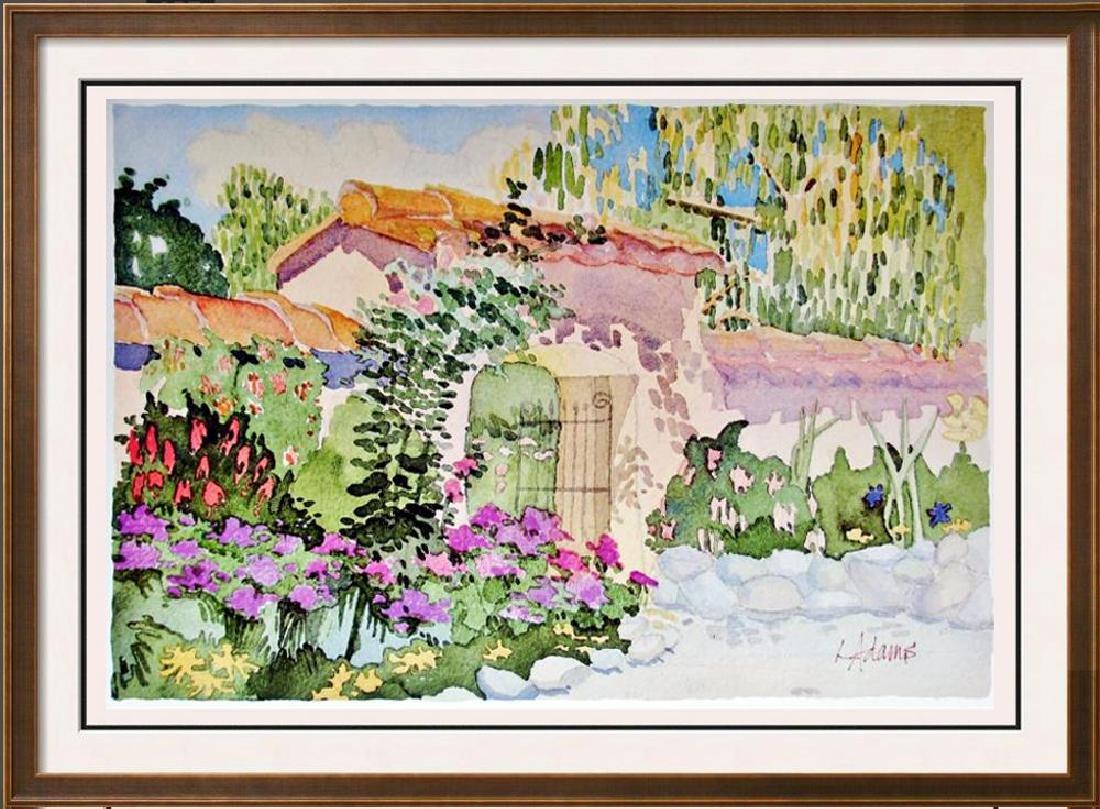 Linda Adams Kessler Plate Signed Garden Scene Carmel