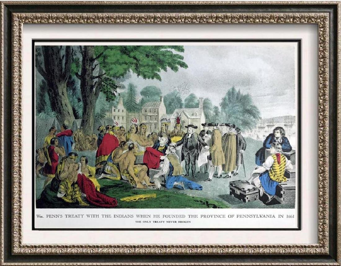 Williampenn's Treaty With The Indians Color