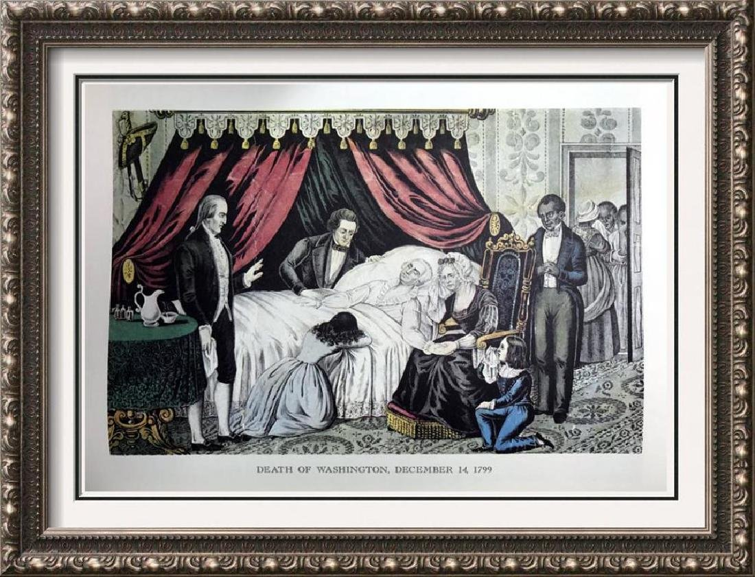 Death Of Washington Color Lithographic Fine Art Print