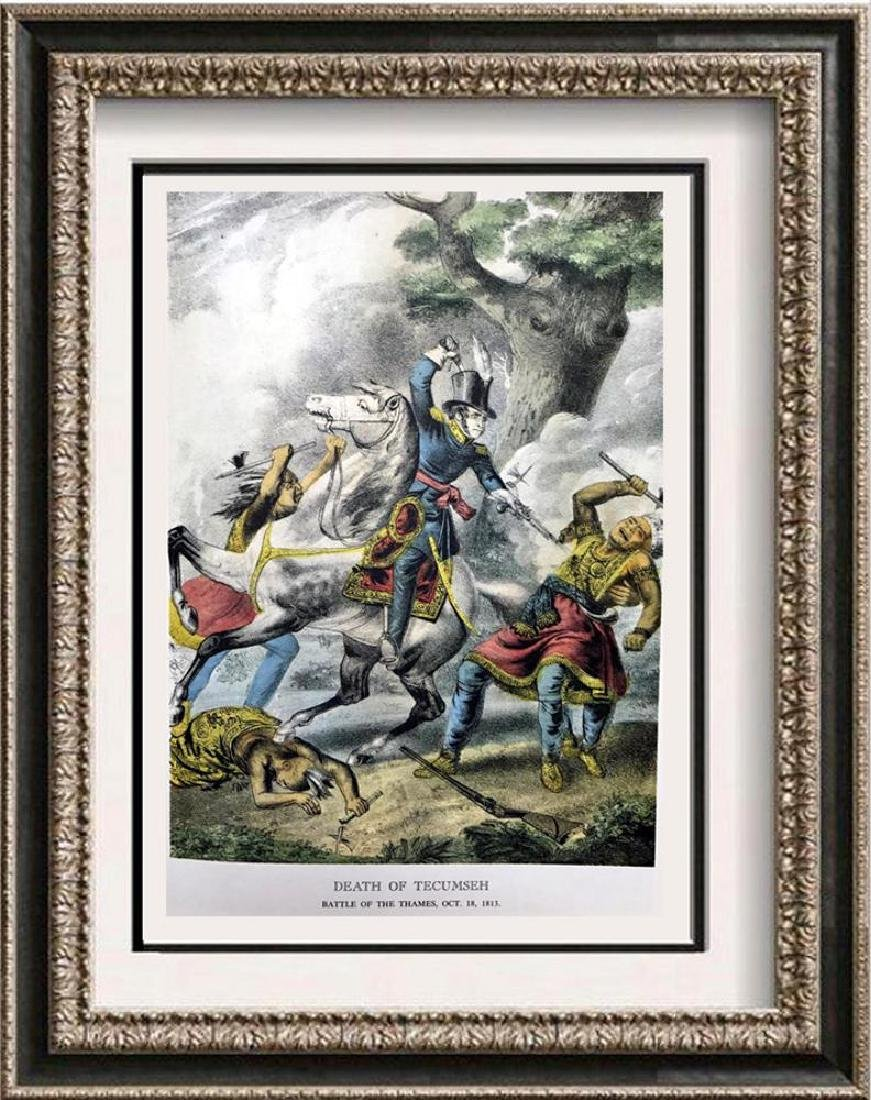 Death Of TECUMSEH Color Lithographic Fine Art Print