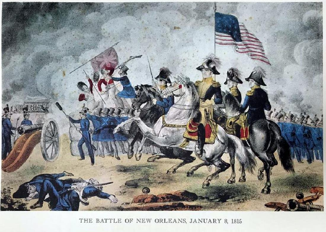 The Battle Of New Orleans Color Lithographic Fine Art - 2