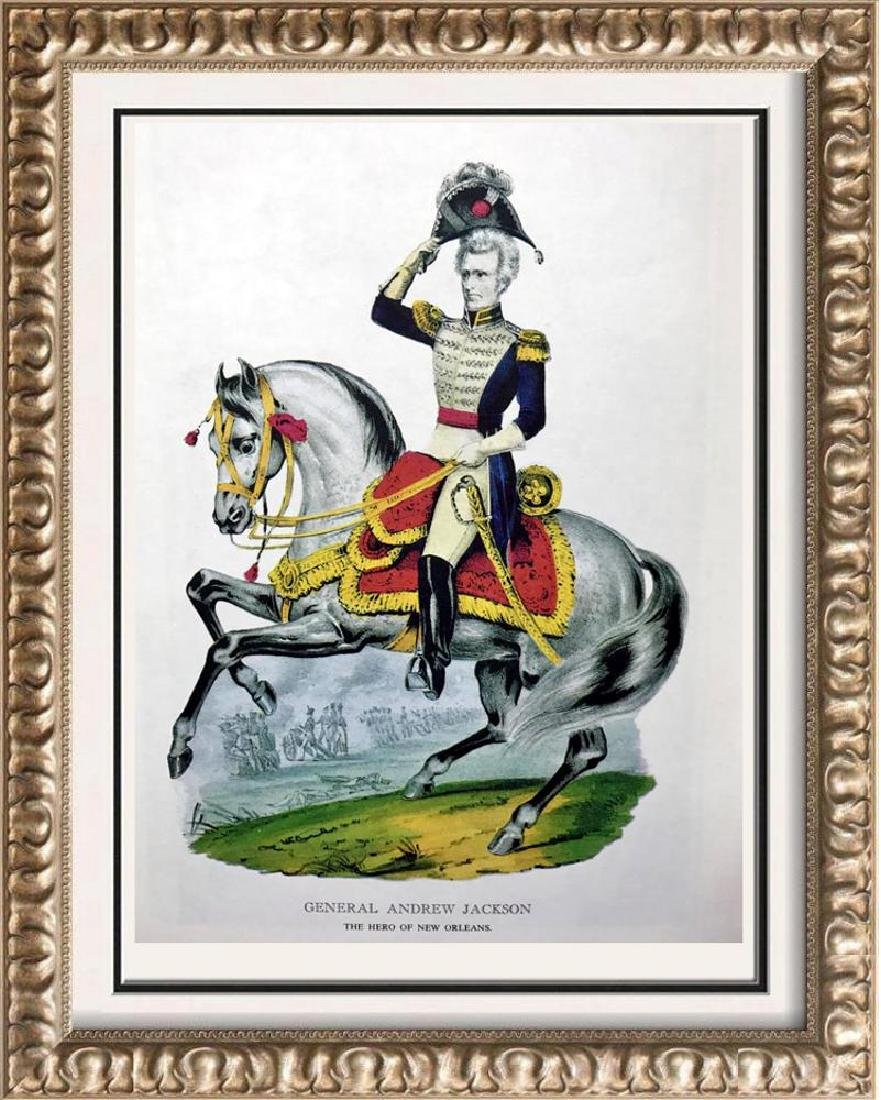General Andrew Jackson Color Lithographic Fine Art