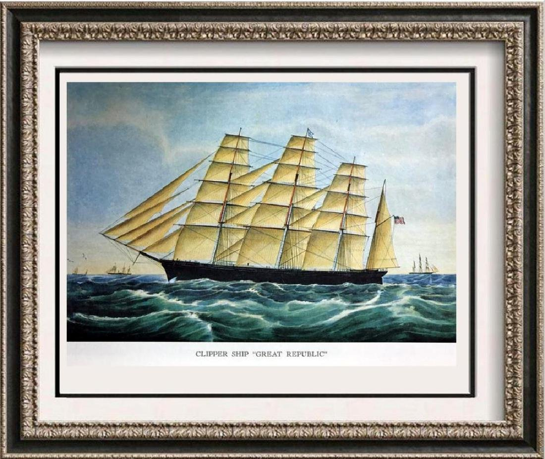 Clipper Ship Great Republic Color Lithographic Fine Art