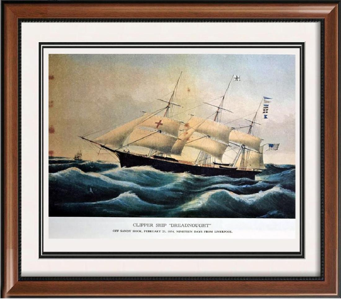 Clipper Ship Dreadnought Color Lithographic Fine Art