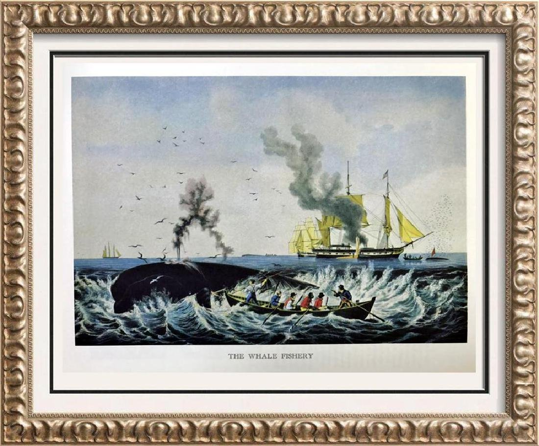 The Whale Fishery Color Lithographic Fine Art Print