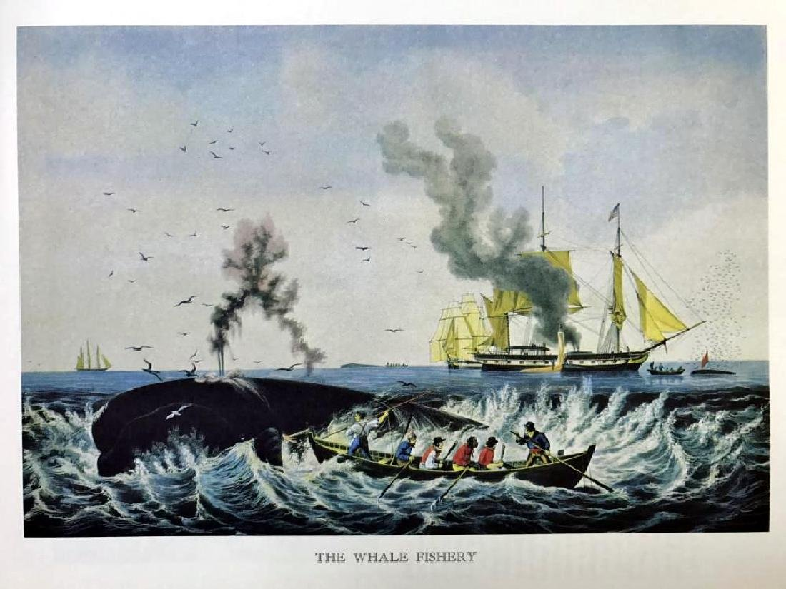 The Whale Fishery Color Lithographic Fine Art Print - 2